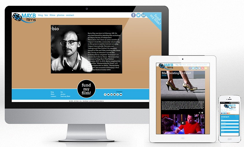 MayB Films Responsive Web Design Vancouver