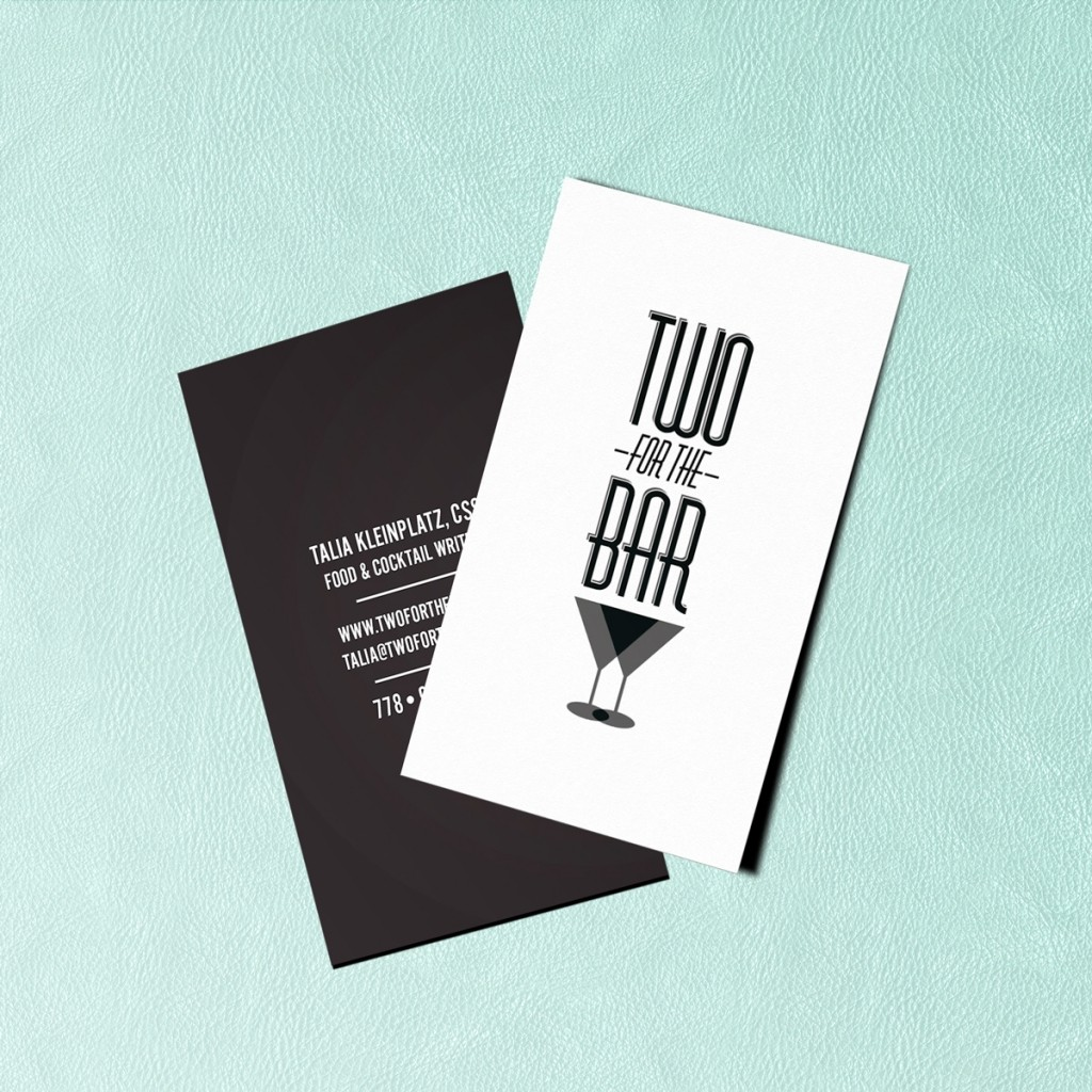 Two For The Bar Business Card Design