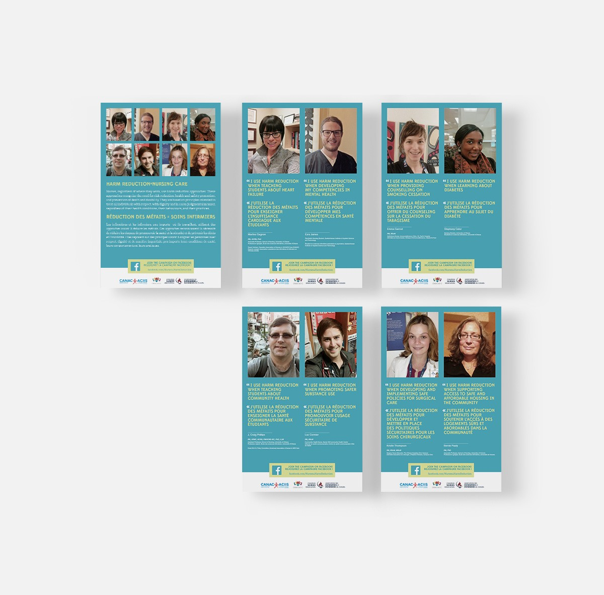 Harm Reduction = Nursing Care campaign Art Direction + Design