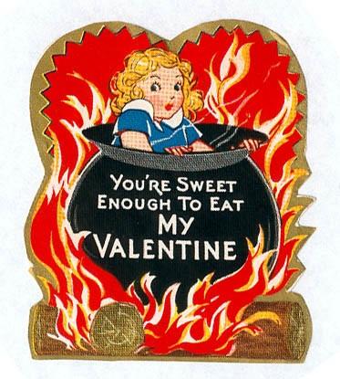 Creepy Vintage Valentine\u0027s Day Card , Pulp \u0026 Pixel