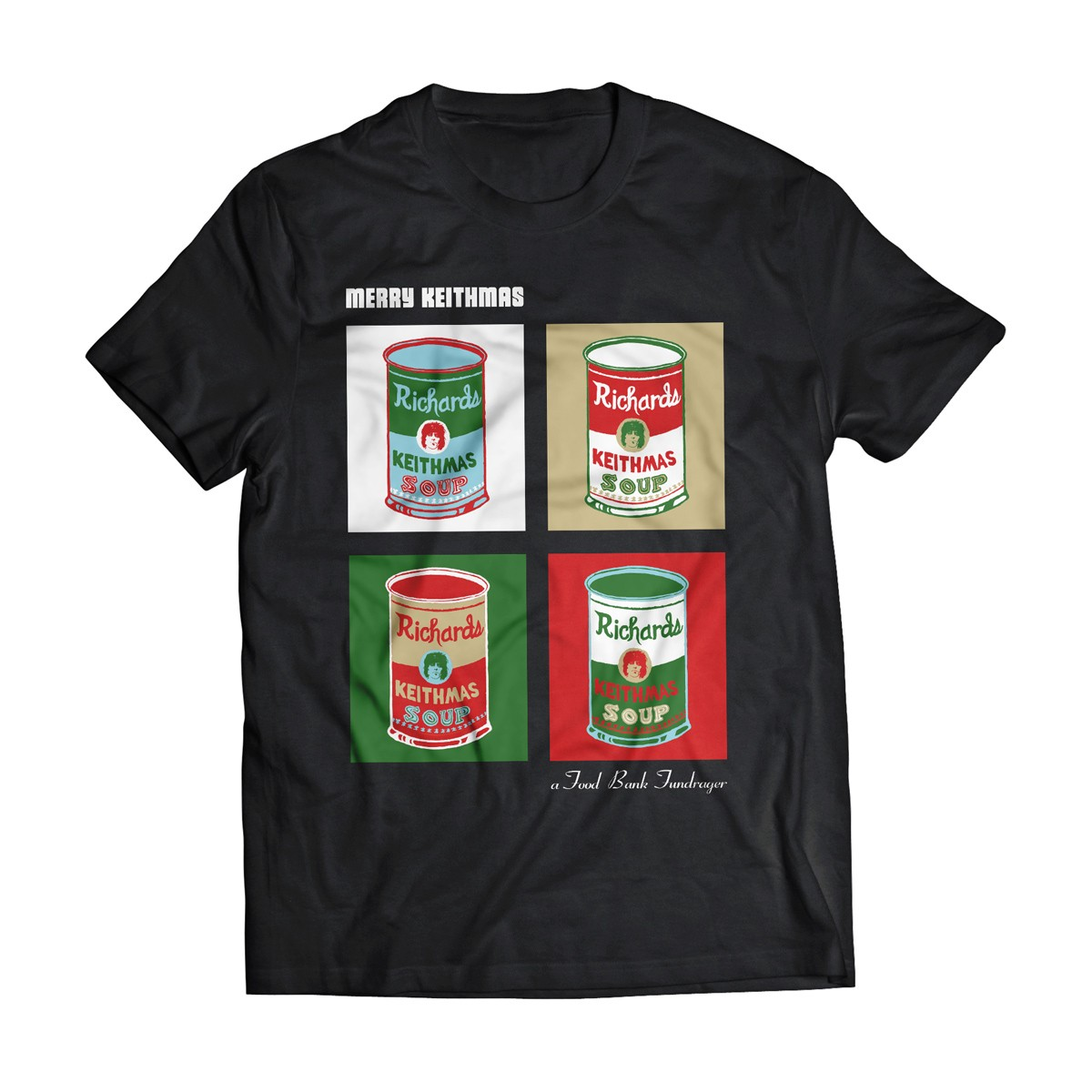 Keithmas A Food Bank Fundrager T-shirt Design 2014