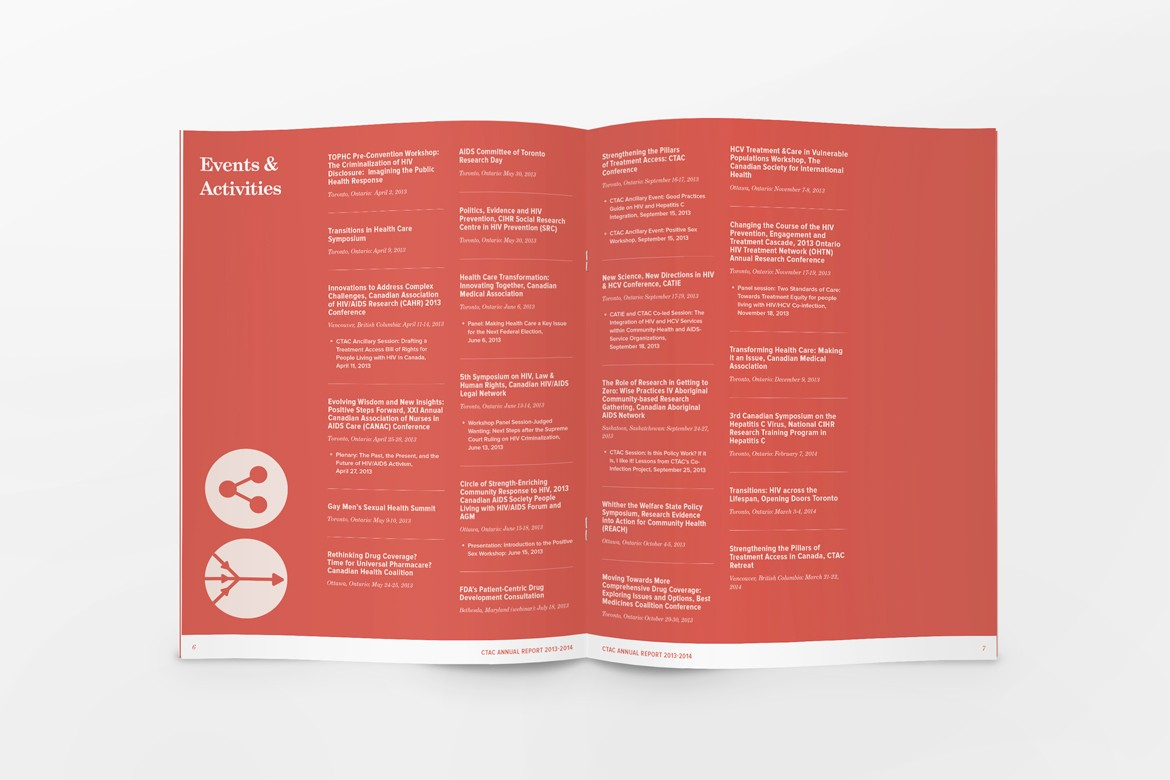 CTAC Annual Report 2013-2014 Graphic Design Layout