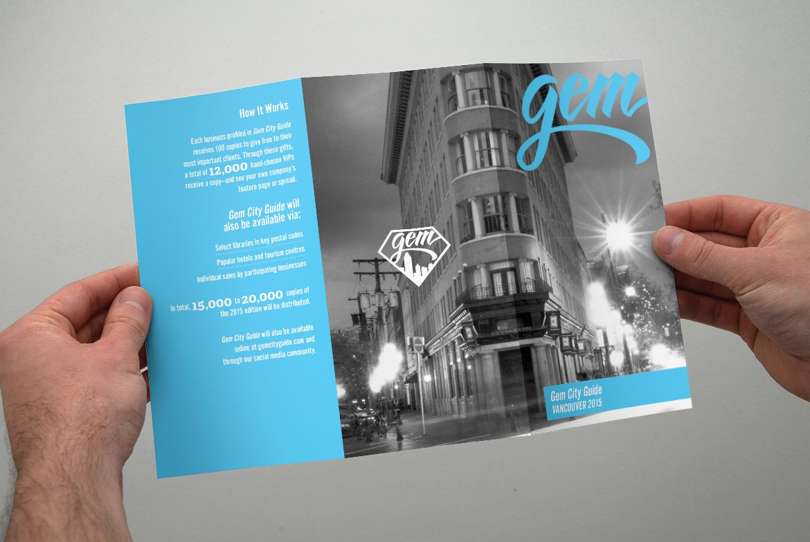 Gem City Guide Vancouver Brochure Design