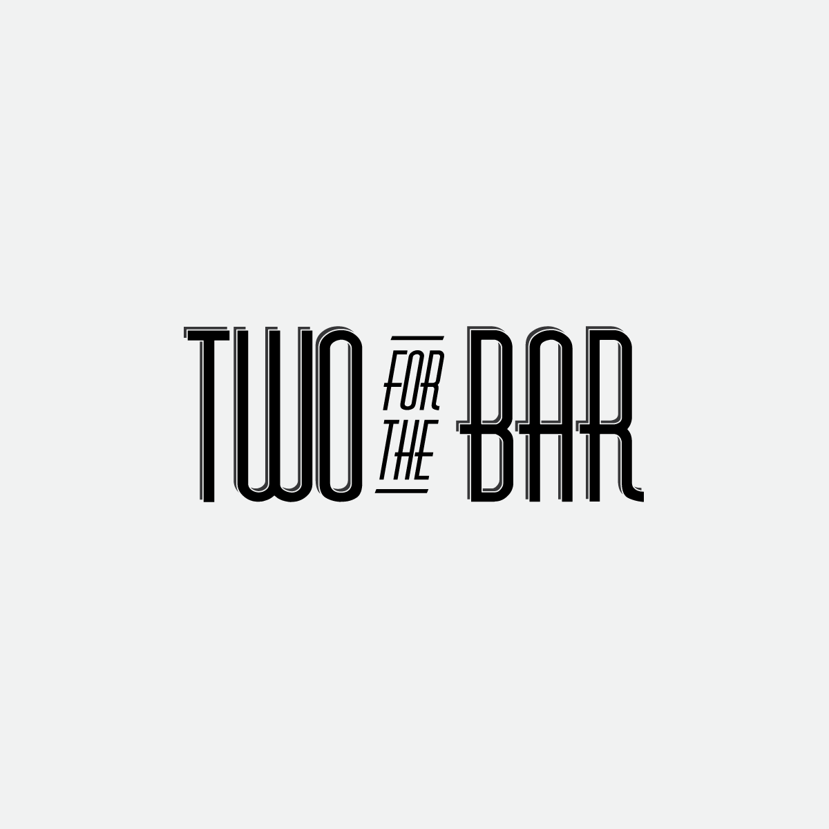 Two for the Bar Blog Logo Design