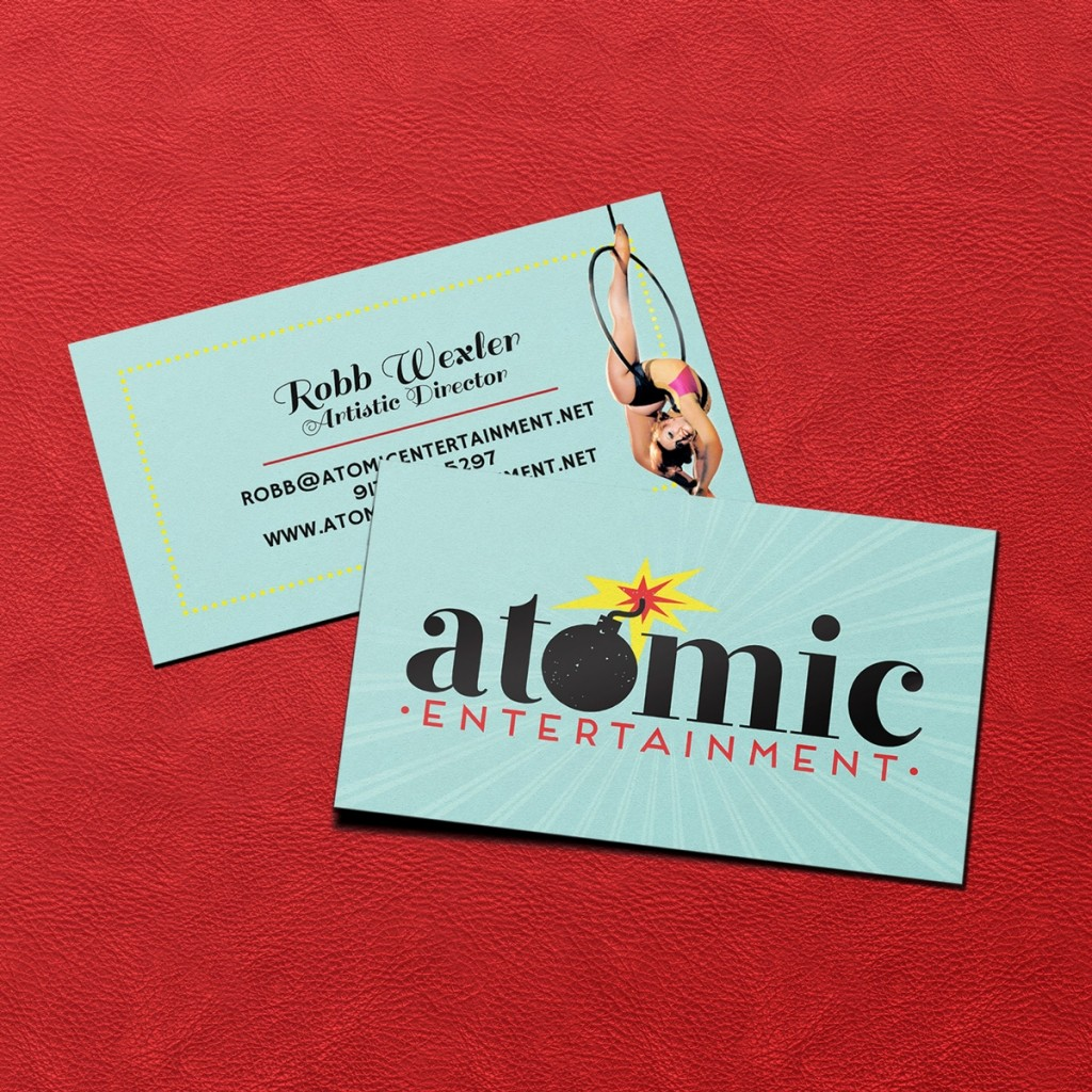 Atomic Entertainment Business Card Design