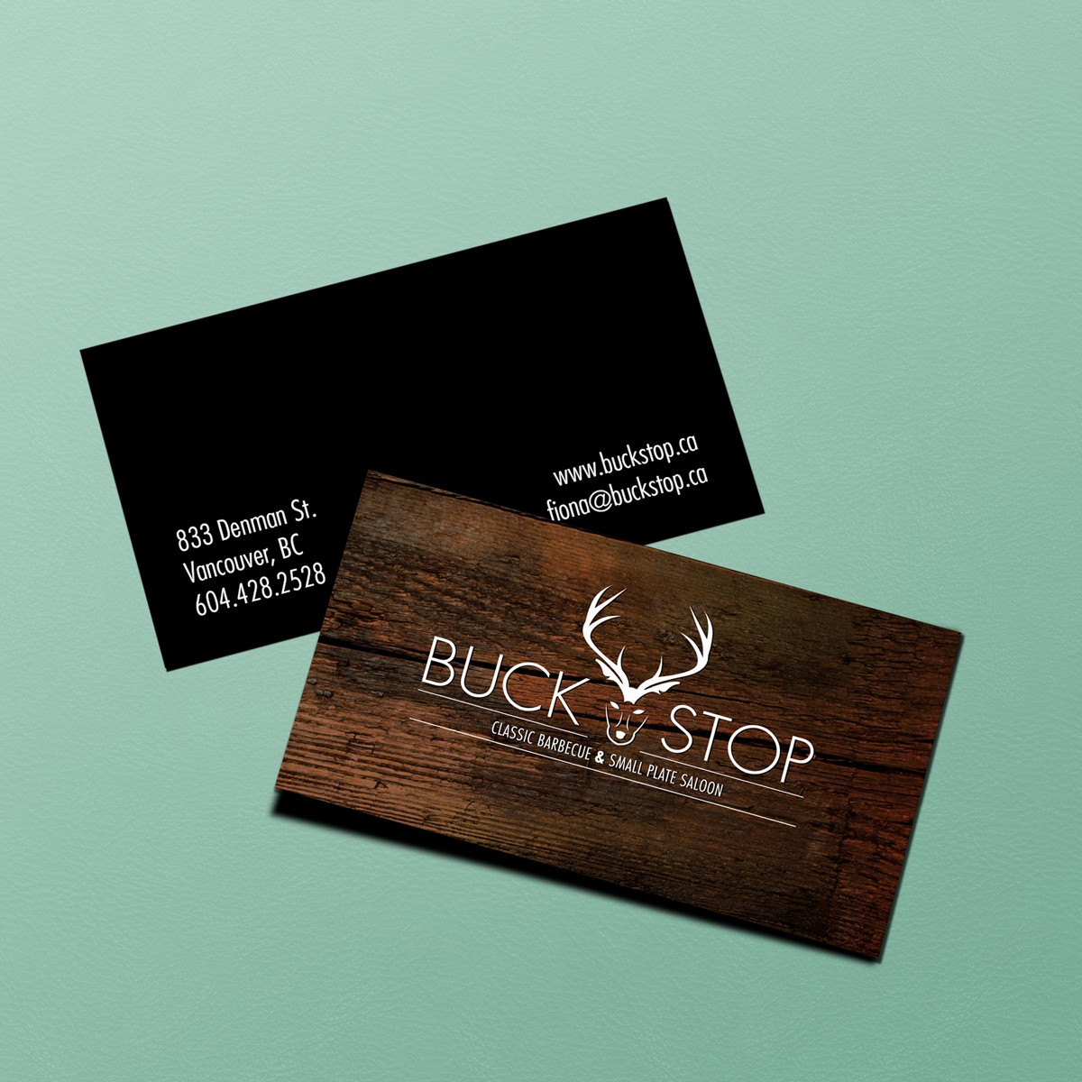 Buckstop vancouver business card design pulp pixel buckstop vancouver business card design reheart Image collections