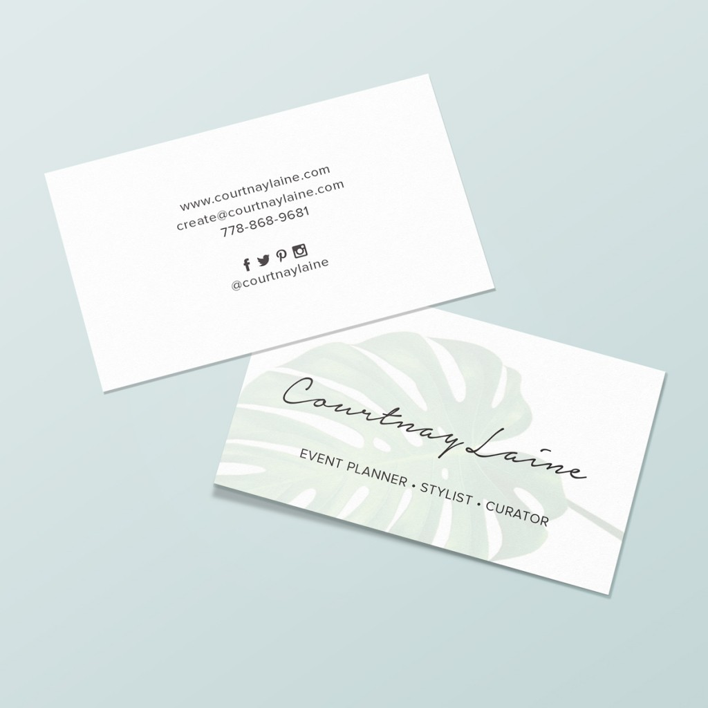 Courtnay Laine Business Card Design
