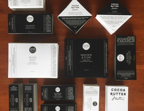 Cocoa Butter Mothers Logo + Product Label Design
