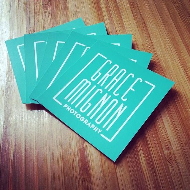 Grace Mignon Photography Business Card Design Pulp Pixel