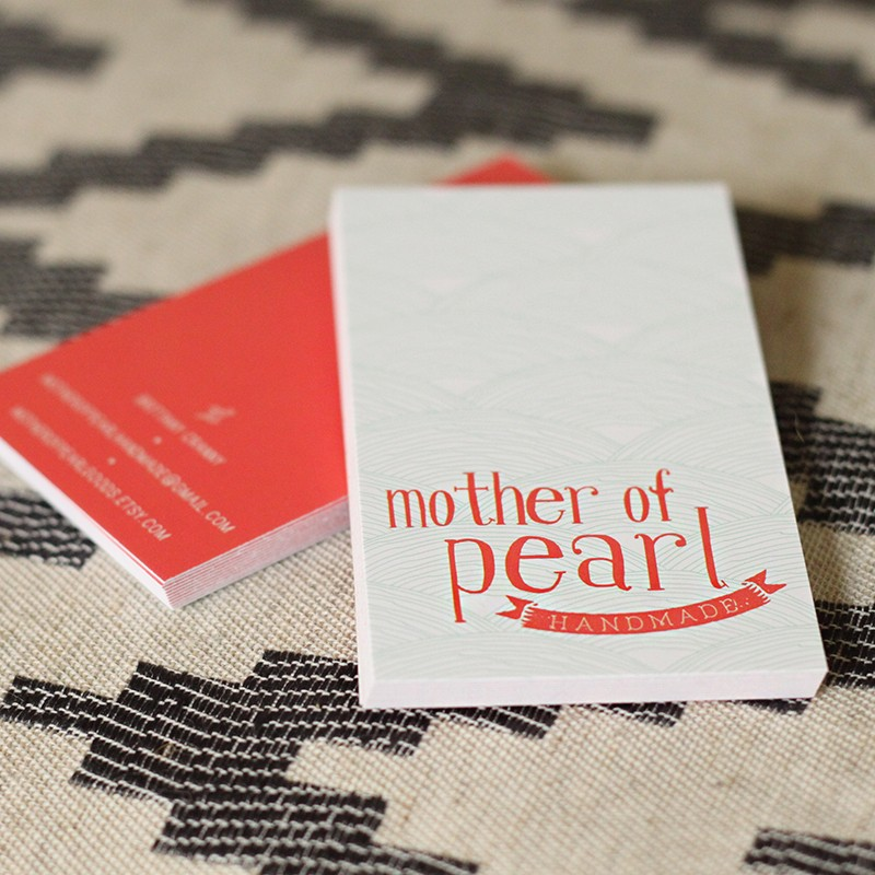 Mother of Pearl Business Card Design