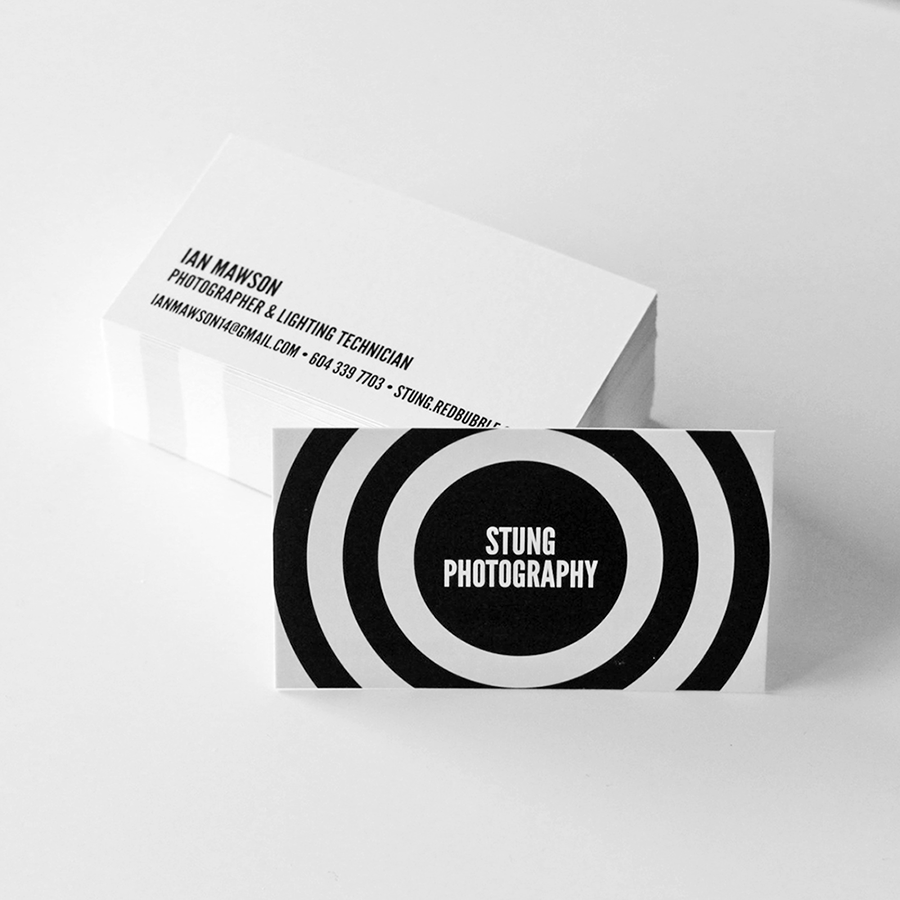Stung Photography Business Card Design