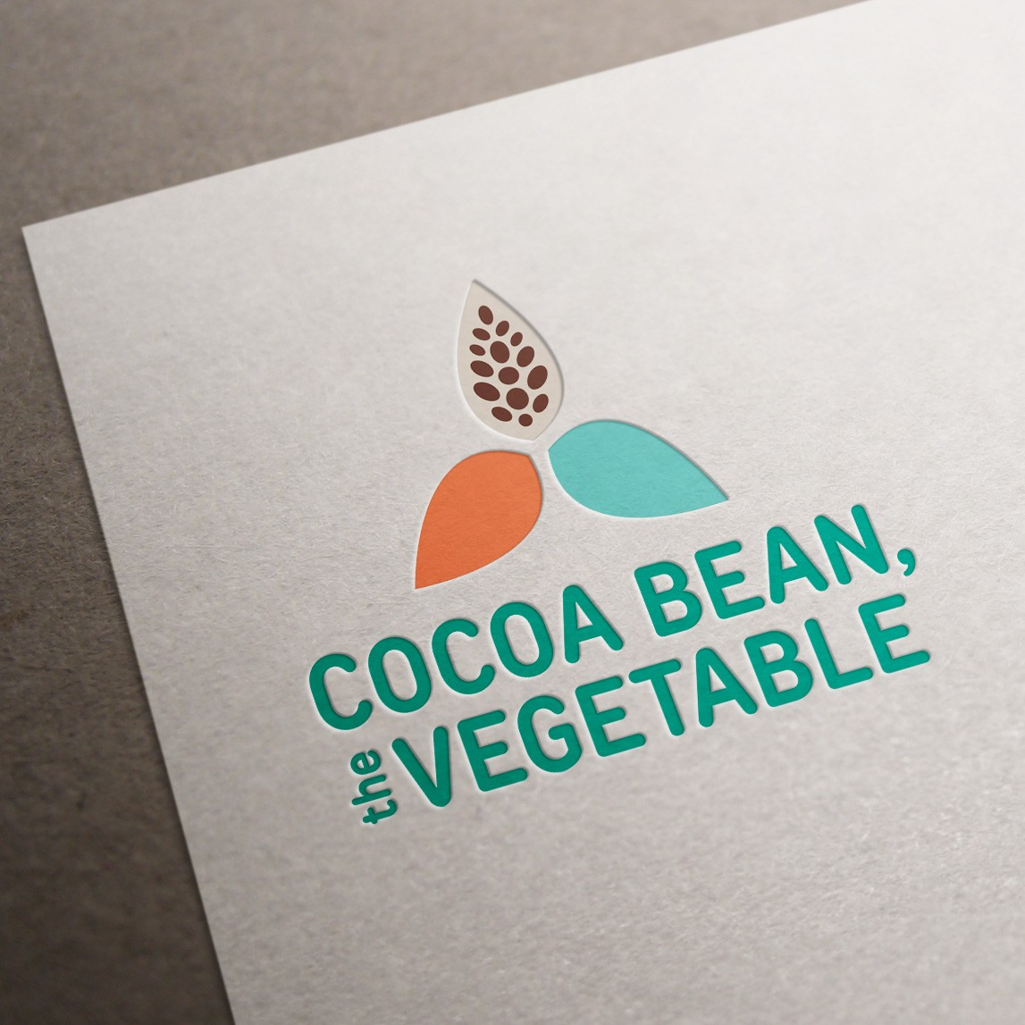Logo Design Montreal - Cocoa Bean the Vegetable