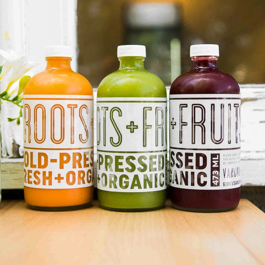 Roots+Fruits Vancouver Packaging, Label design by Pulp&Pixel