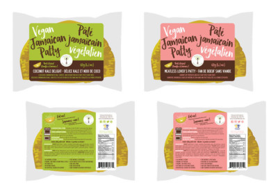 Choose Life Foods Vegan Jamaican Patty Package Design Montreal