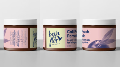 Beija Flor Naturals California Packaging Design