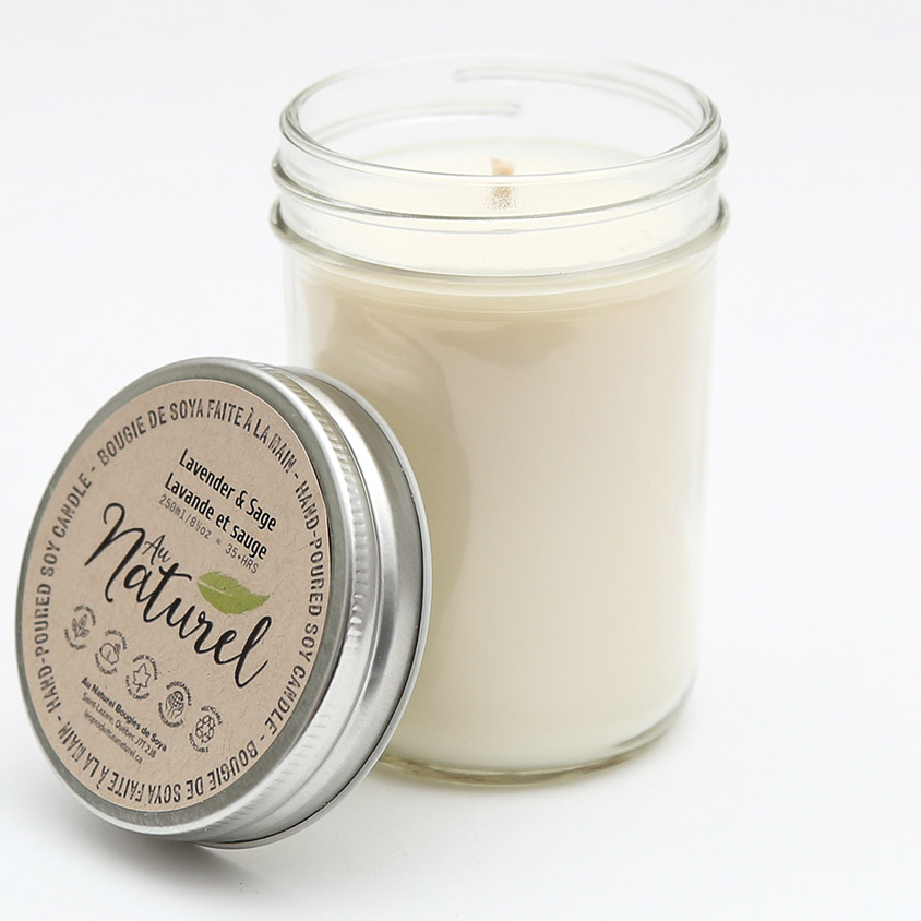 Au Naturel Soy Candles Packaging Design Montreal