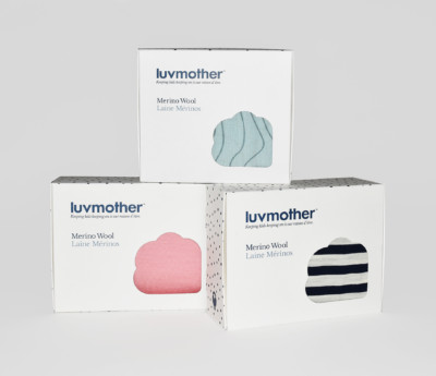 luvmother Retail box package design Montreal