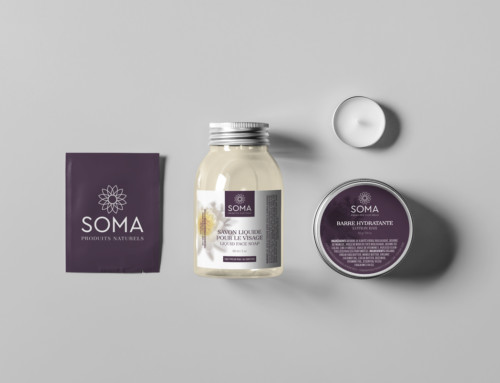 SOMA Natural Products Logo Design + Packaging Concepts