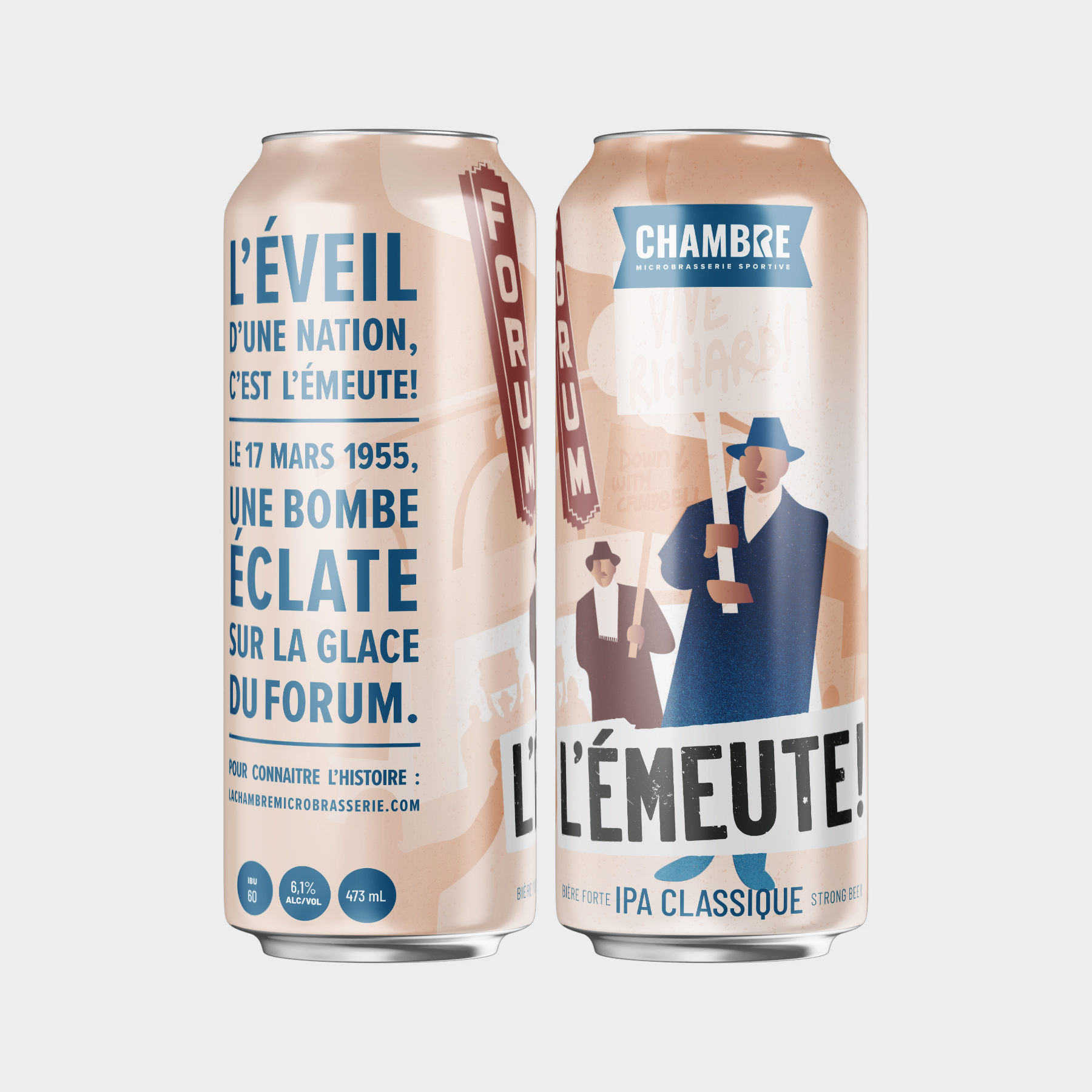 La Chambre Microbrasserie Montreal Packaging Design