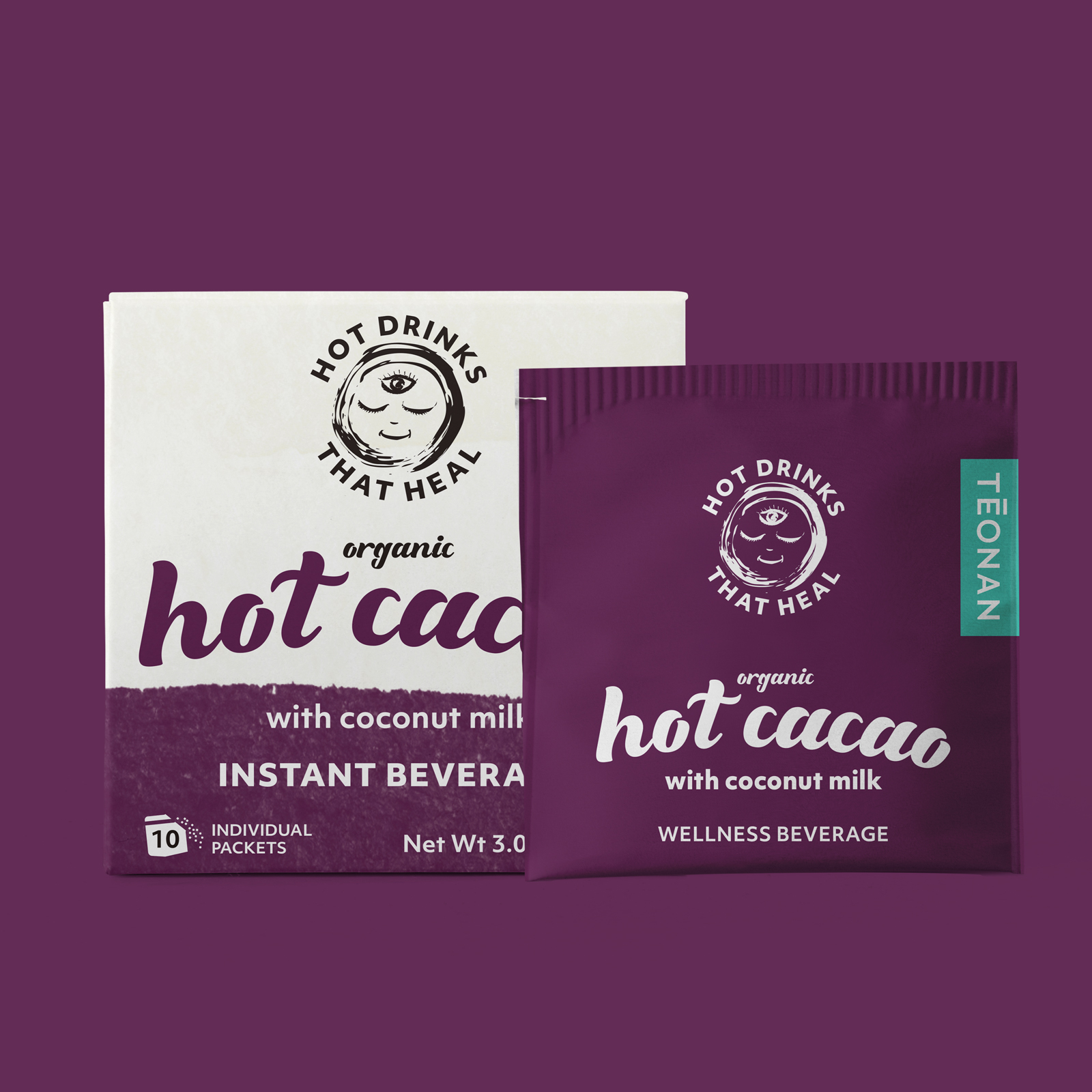 TEONAN - Hot Drinks That Heal Packaging Design Montreal