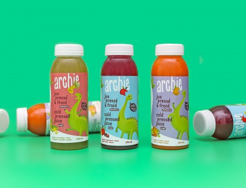 Packaging Design + Visual Identity for Montreal-based Archie Juice