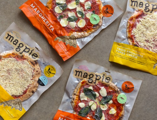 Packaging design for Pizzeria Magpie's Line of Frozen Artisanal Pizza