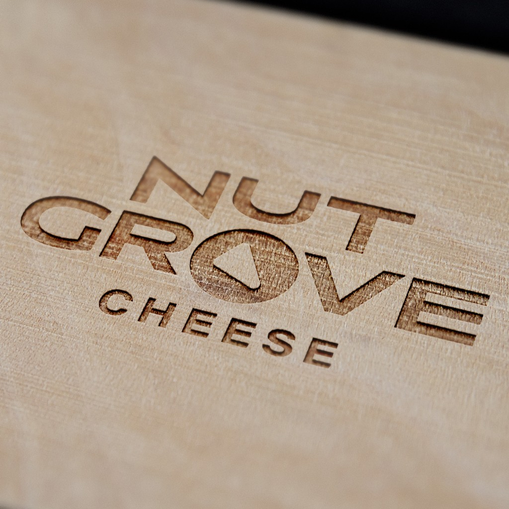 Nut Grove Cheese Montreal Vegan Cashew Cheese Package Logo Design